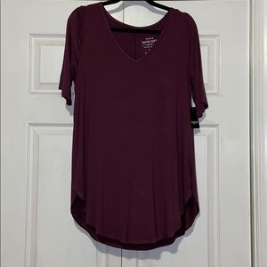 NEVER WORN, plum torrid tunic top size 1